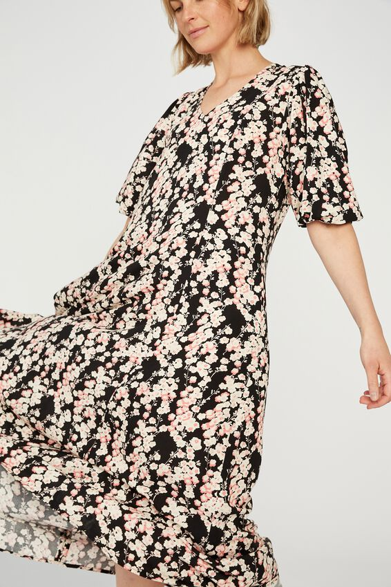 Femme Dress, BLACK PINK FLORAL
