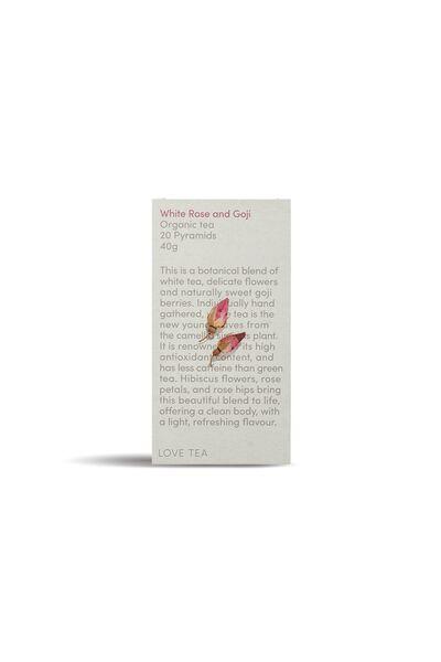 Love Tea Pyramid Tea Bags - 20, WHITE ROSE GOJI