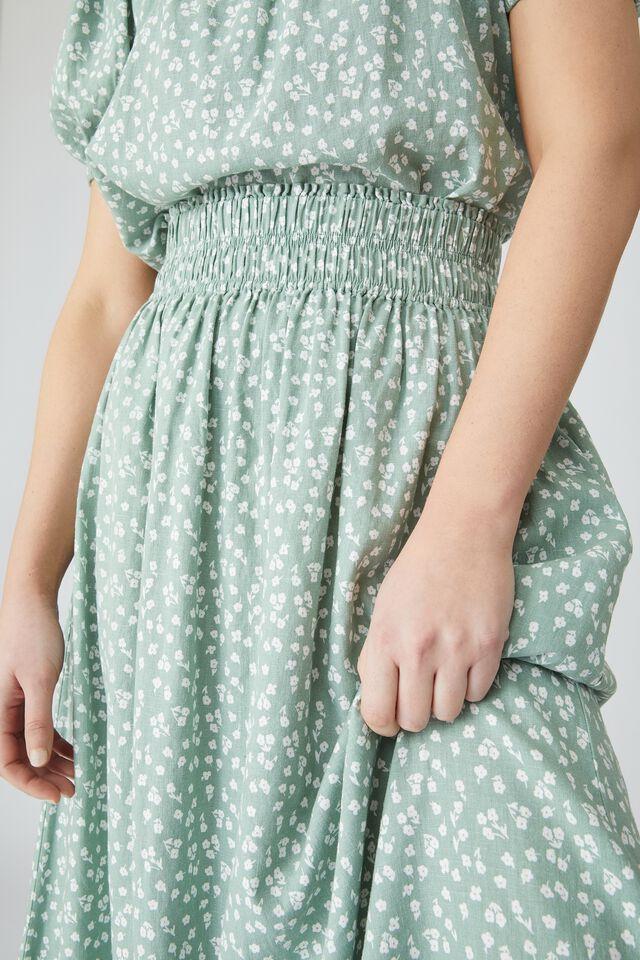 Bijou Midi Skirt, MINT FLORAL
