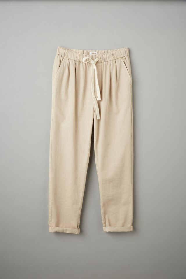 Baggy Everyday Pant With Recycled Cotton, PEBBLE