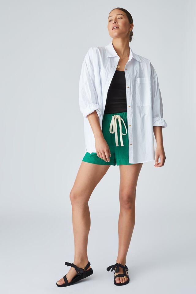 Linen Short, KELLY GREEN