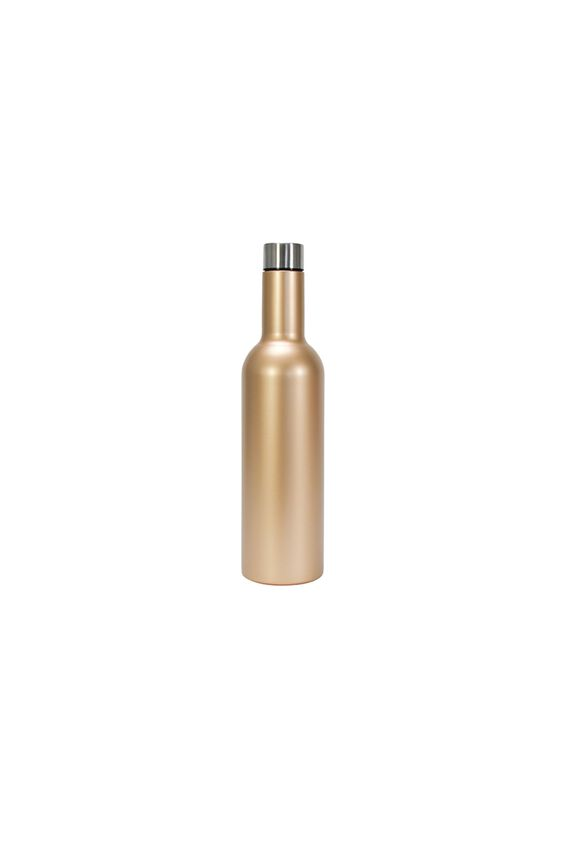 Double Walled Wine Bottle, GOLD