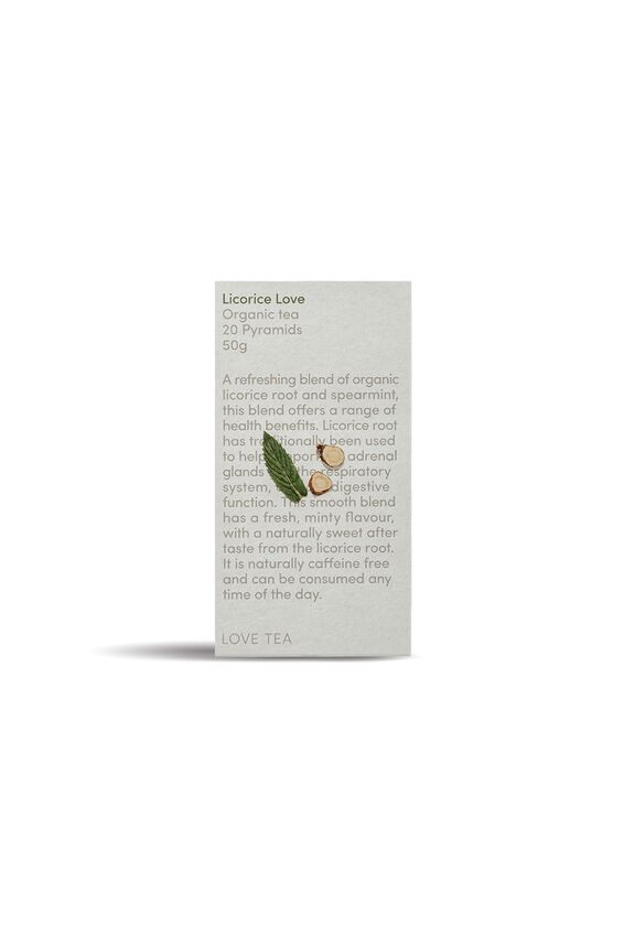 Love Tea Pyramid Tea Bags - 20, LICORICE LOVE