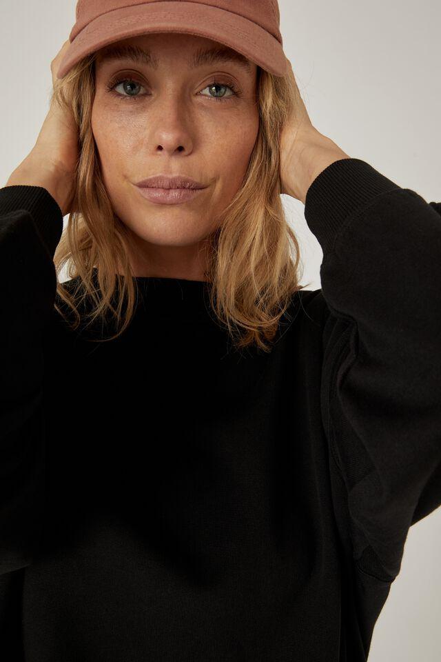 Organic Supersize Sweater, BLACK