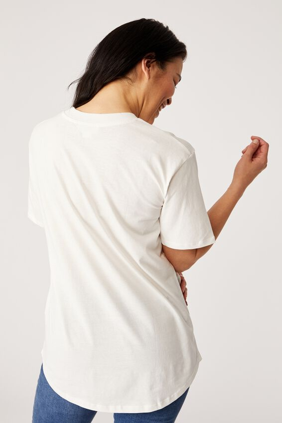 The Organic Daily Print Tee, WHITE/HOOLEY DOOLEY