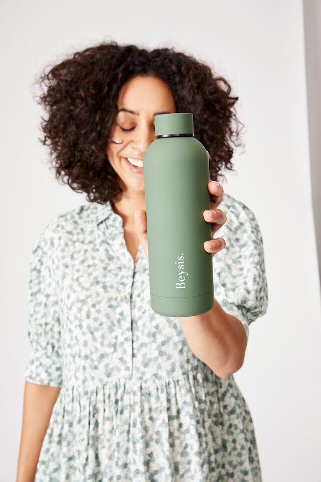 Beysis Metal Water Bottle, OLIVE GREEN
