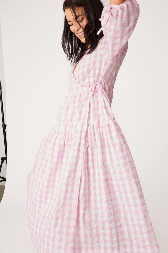 Gingham Picnic Dress, PINK & WHITE
