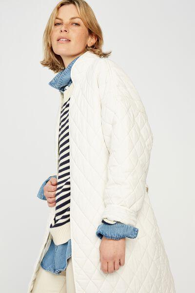 Quilted Kimono Jacket, WINTER WHITE