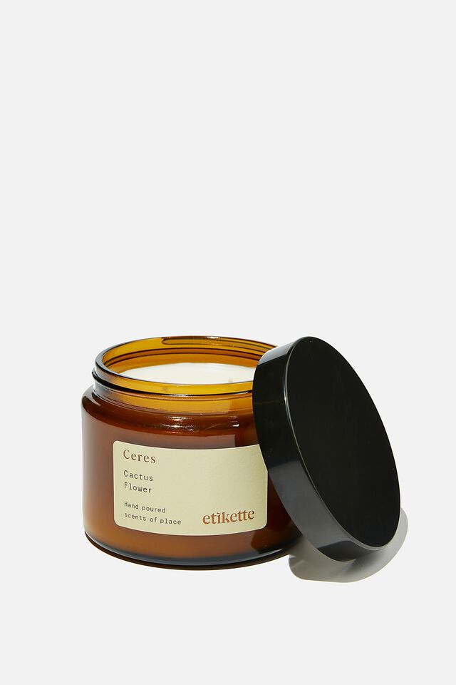 Etikette Soy Candle 500Ml, CACTUS FLOWER
