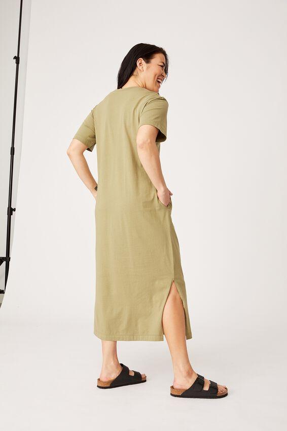 Organic Daily Tee Dress, DILL