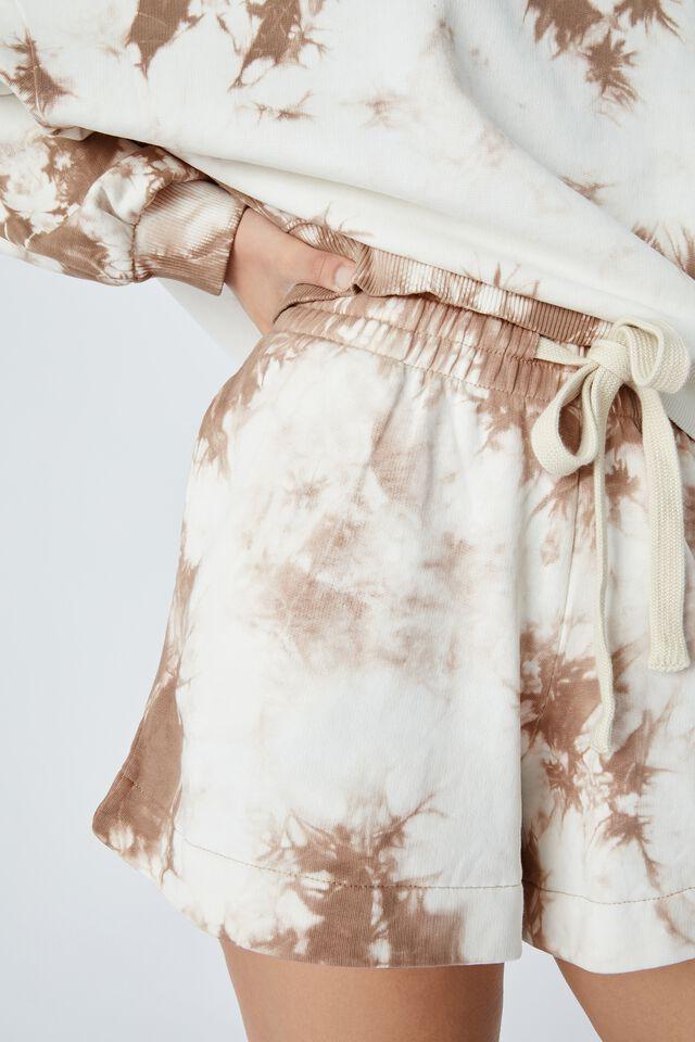 Organic Tie Dye Short, CAMEL TIE DYE