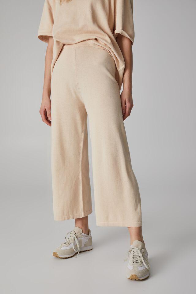 Organic Cotton Knit Pant, LIGHT CAMEL