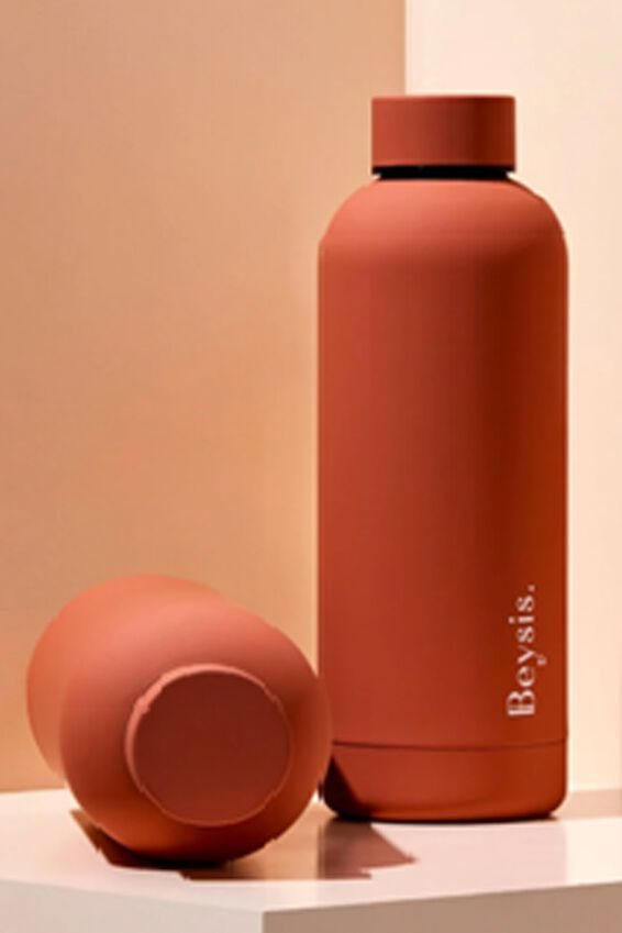 Beysis Metal Water Bottle, TERRACOTTA