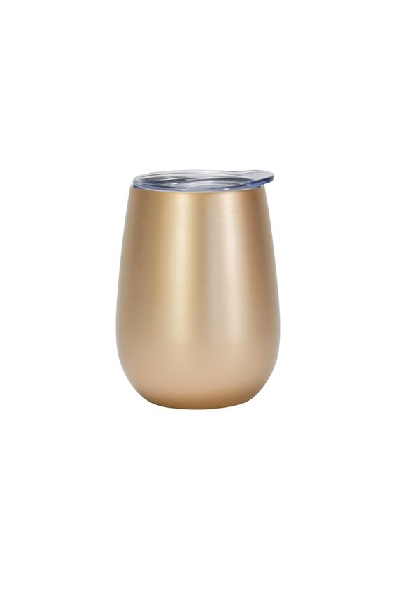 Double Walled Wine Tumbler, GOLD