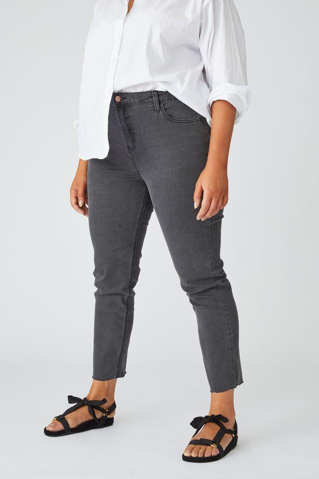 Raw Hem Skinny Leg Jean, SHADOW