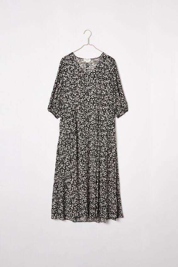 Femme Dress, BLACK FLORAL