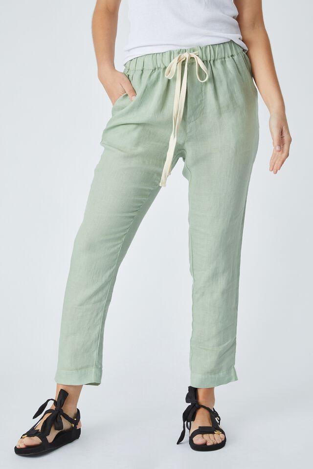 Linen Pant, FERN GREEN
