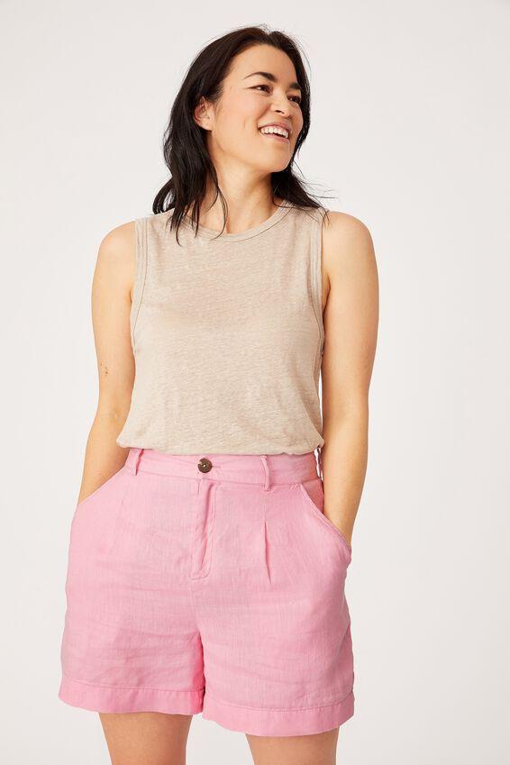 Linen Short, FAIRY FLOSS
