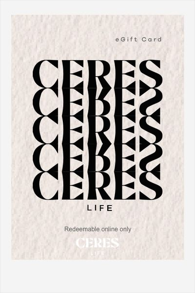eGift Card, Ceres Life Logo