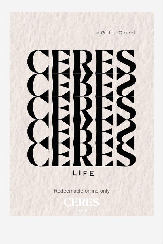 eGift Card, Ceres Life Logo